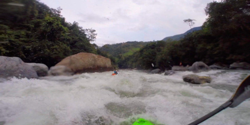 Paddling in Colombia