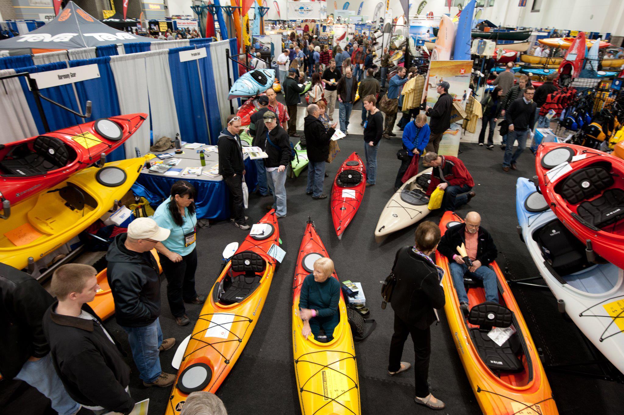 Kayaks on display