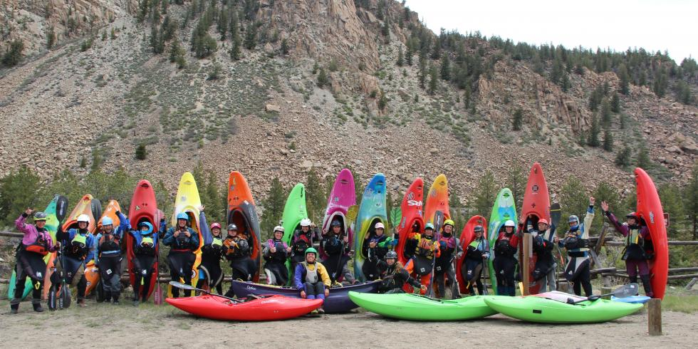 kayaker group photo