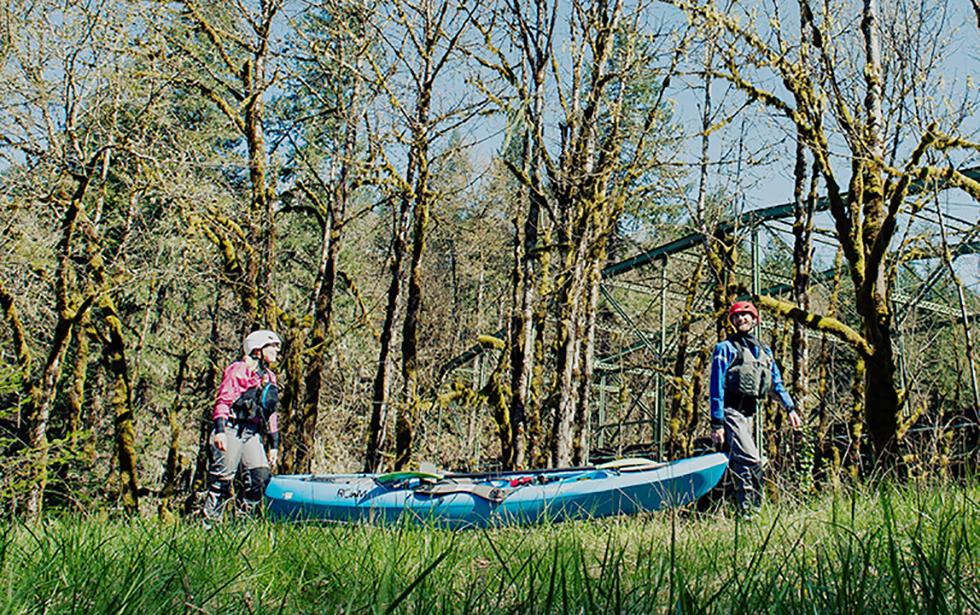 Dagger Kayak being carried