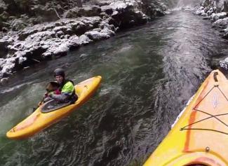 Crossover Creeking in the Dagger Katana