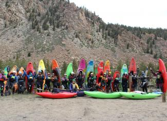 kayaker group photo